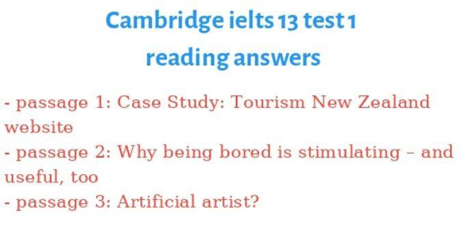 cambridge ielts 13 reading keywords table
