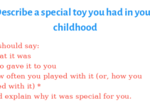 Describe a special toy you had in your childhood