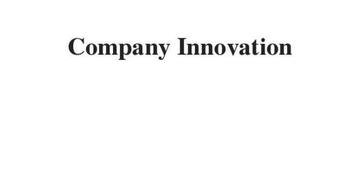 Company Innovation