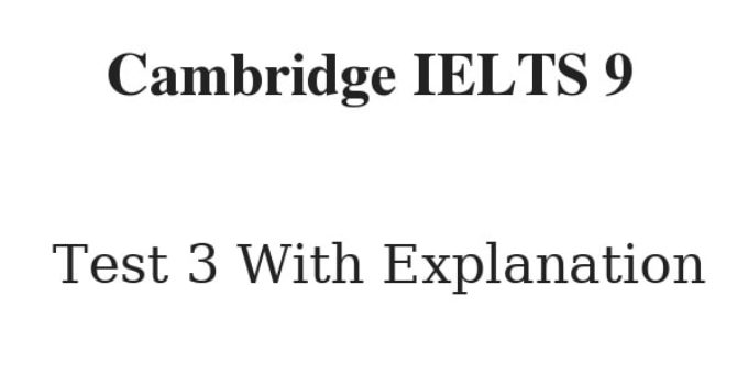 cambridge ielts 9 reading test 3 with answers